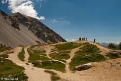 Etwas oberhalb der Passhöhe des Col d'Izoard befindet sich ein schöner Aussichtspunkt mit mehreren Orientationstafeln