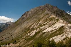 Der Gipfel des 2735 Meter hohen Clot la Cime unmittelbar benachbart zum Col d'Izoard