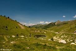 Ausblick von der Passhöhe des Col de Vars Richtung Norden