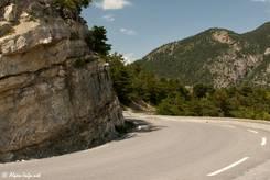 Die Straße von Norden hinauf zum Col de Vars ist ein Teil des Route des Grandes Alpes