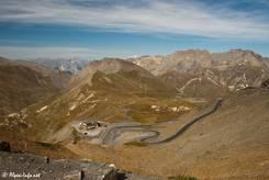 Ausblick vom Col du Galibier Richtung Norden