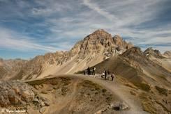 Aussichtspunkt mit Orientationstafel oberhalb des Col du Galibier