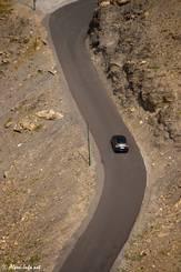 Die teilweise etwas schmale Straße hinauf zum Col du Galibier