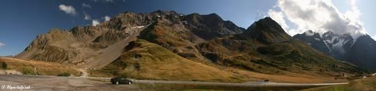 Blick vom Col du Lautaret Richtung Süden in die Berge des Écrins-Nationalparks