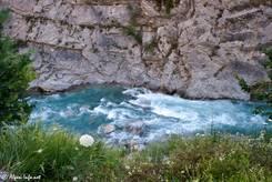 Der Wildwasserfluss Guil in der Schlucht