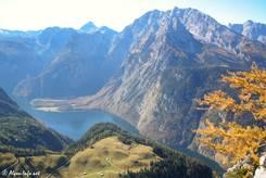 Ausblick vom Jenner über den Königssee Richtung Watzmann