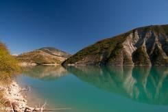 Faszinierende Farben am Stausee Lac de Castillon