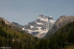 Der Gipfel des Monte Viso von französischer Seite (von Norden)