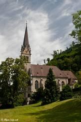 Die Kathedrale Saint Florin in Vaduz, auch ein Blick ins Innere der Kirche lohnt sich