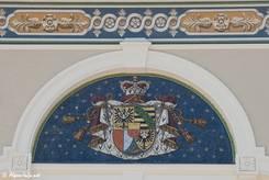 Details der Verzierungen am Regierungsgebäude